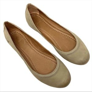 NEW? Frye Carrie Leather Ballet Flats Ash 8.5M